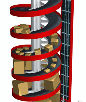 Wide Trak Spiral Conveyors