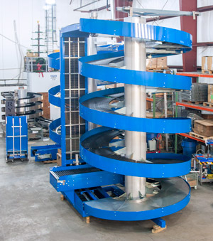 The Ryson Spiral is an ideal for multi-level warehousing operations.
