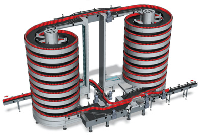 vertical accumulation buffer system