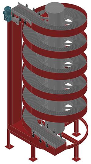 Ryson 3D Cad Block for Spiral Conveyor