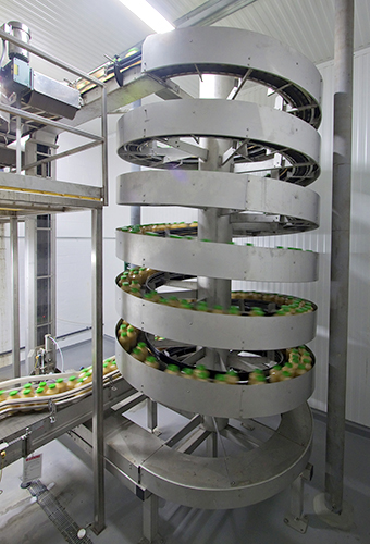 Knouse Foods Mass Flow Spiral Elevator from Ryson