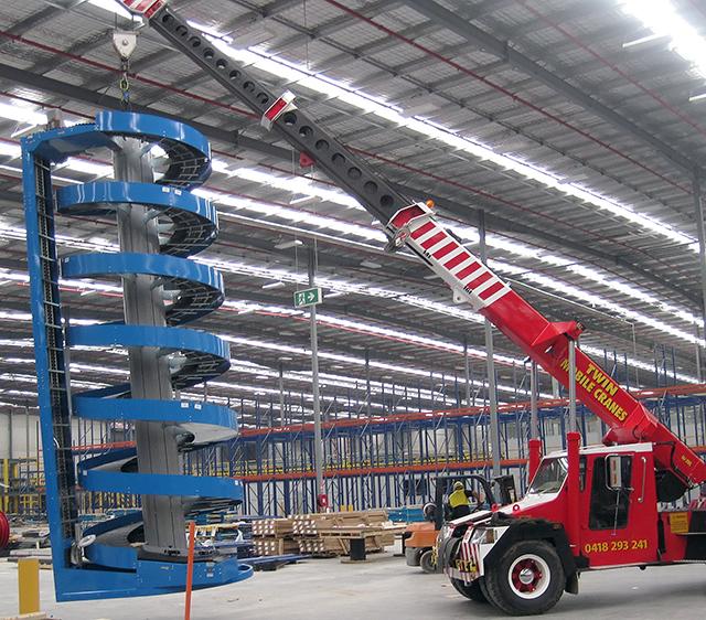 Installing Tall High Capacity Spiral