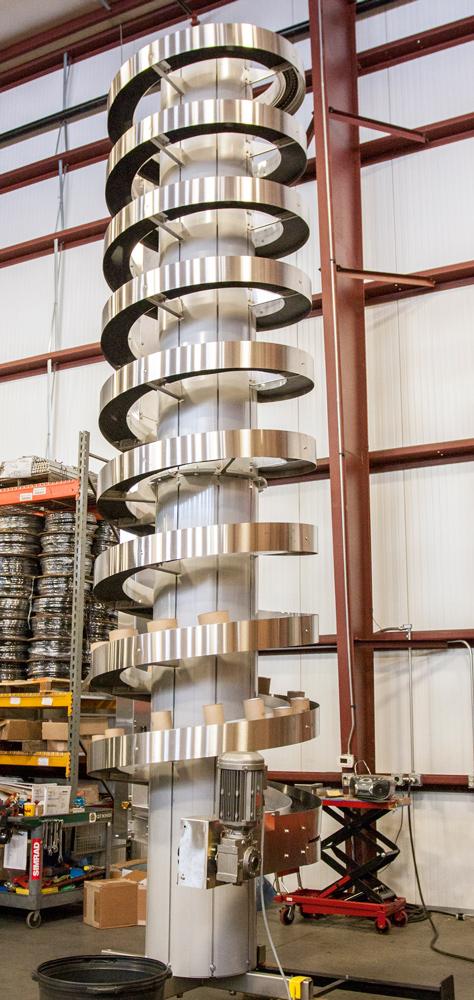 Tall Narrow Trak Spiral Conveyor