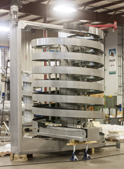 Ryson Mass Flow Spiral for bottling and canning operations
