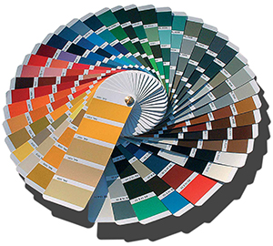RAL color choices