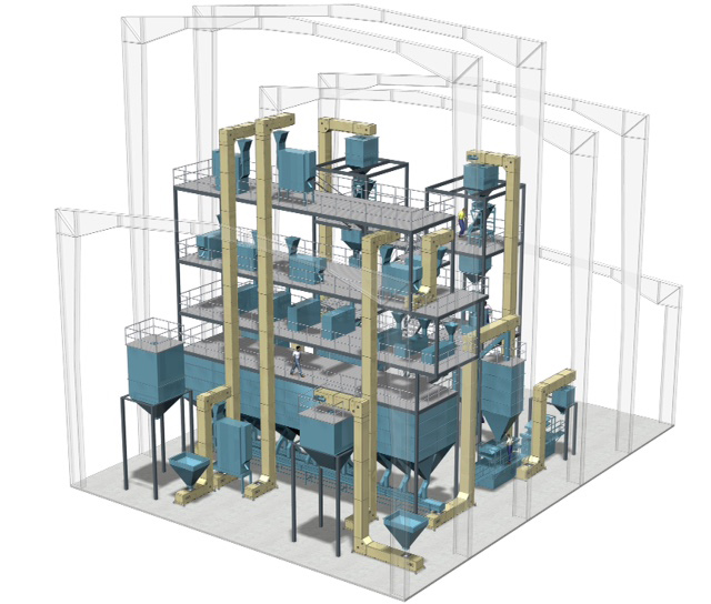 Bucket Elevators Rendering