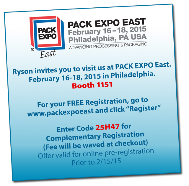 Free Registration for Pack Expo East