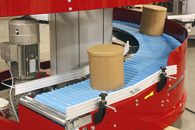 Ryson Spiral Conveyor with Freezer Slats