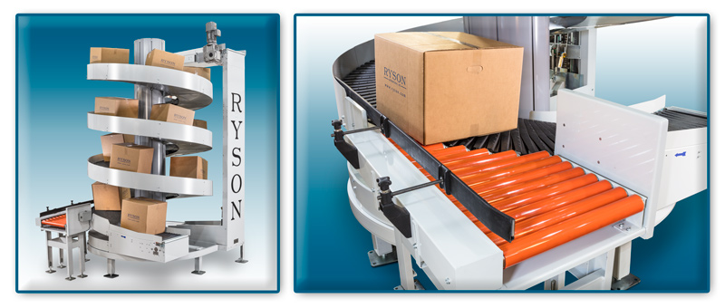 Ryson Multiple Entry Spirals with Induction Conveyor