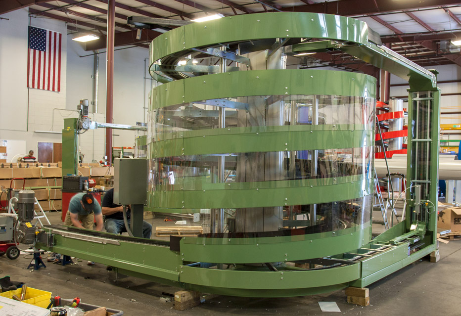 Ryson Mass Flow Spiral for the Glass-Making Industry