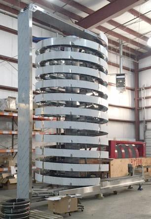 Brewery Spiral Conveyor: Ryson Mass Flow Spiral