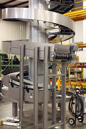 Ryson Spiral Conveyor for Multiple Production Lines