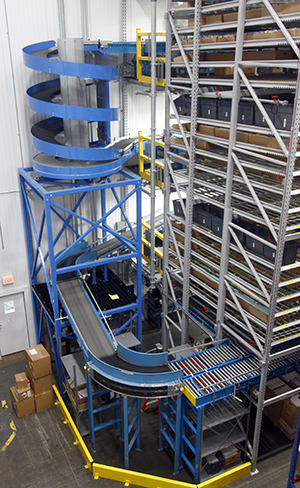 Ryson Spiral at Distribution Warehouse Order Picking System