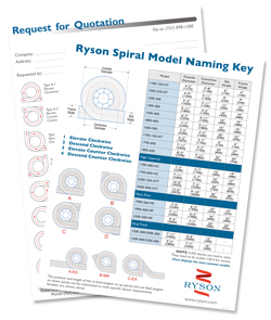 Download the Ryson Spiral Model Chart and RFQ Form