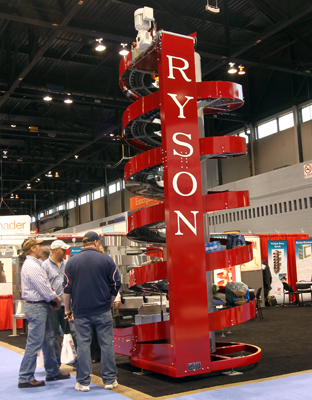 Ryson SPiral conveyor at Pack Expo