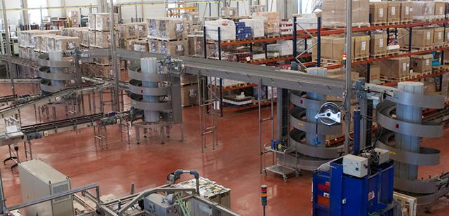 Spiral Conveyors in Packaging Line