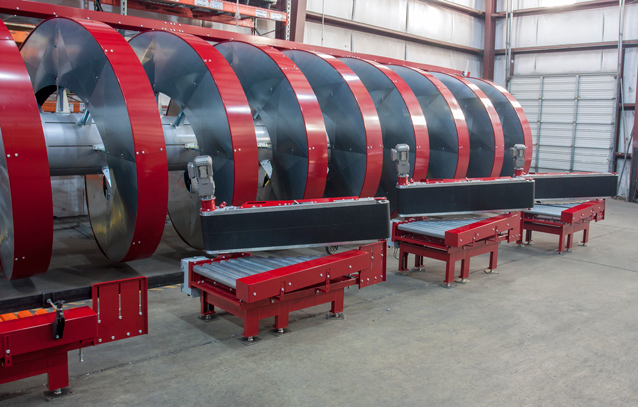 High Capacity Spiral with new divert out conveyors