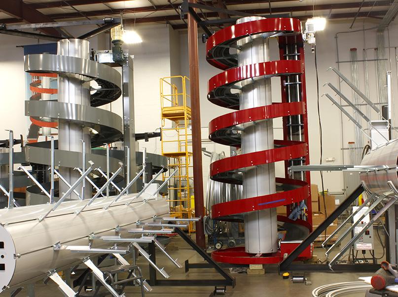 Ryson Red Show Spiral Conveyor in Shop