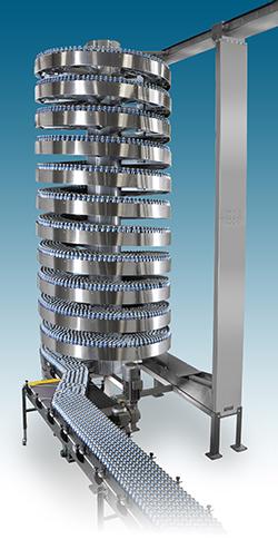 High Volumes Stainless Ryson Mass Flow Spiral Conveyor