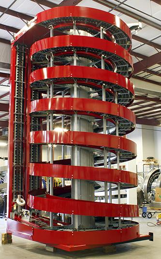 Tall Ryson Dual Track Spiral Conveyor
