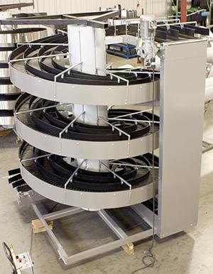 Ryson Three Lane custom Spiral Conveyor