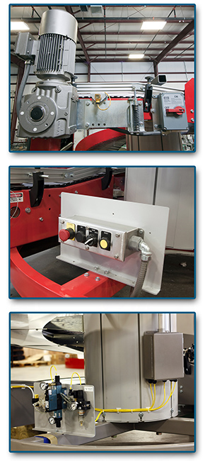 Ryson Spiral Conveyor pre-wiring and controls options