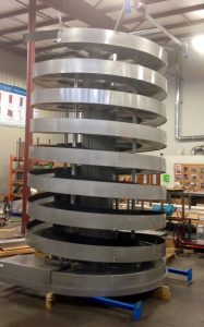 Ryson Mass Flow Spiral Conveyor Factory Acceptance Test