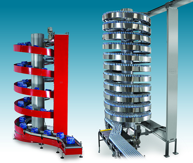 Ryson High Capacity and Mass Flow Spiral Conveyors