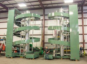 Ryson Wide Trak Spirals in the manufacturing plant