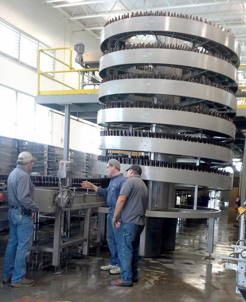 Ryson Service Team installs a mass flow spiral