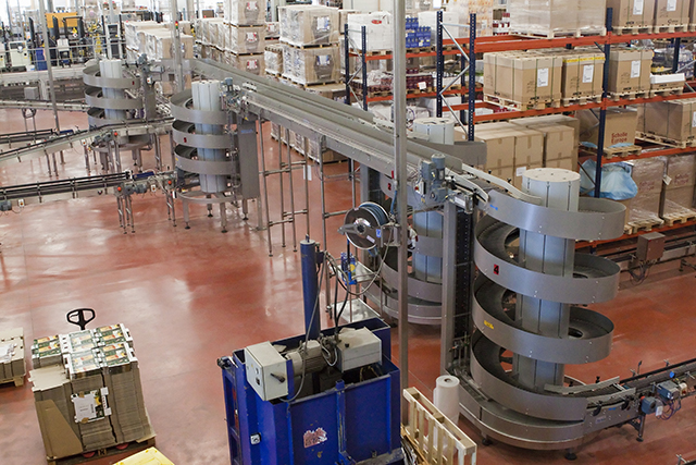 Ryson Spiral Conveyors can create aisle space
