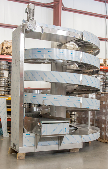 Stainless Steel Wide Trak Spiral to Operate in Wet Environment