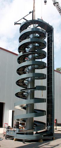 Ryson High Capacity Spiral Conveyor Factory Test