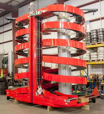 dynamic vertical buffer spirals
