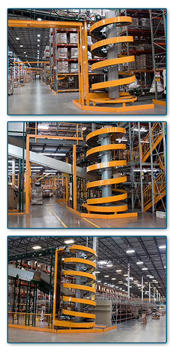 Space Saving Ryson Spirals at Distribution Center