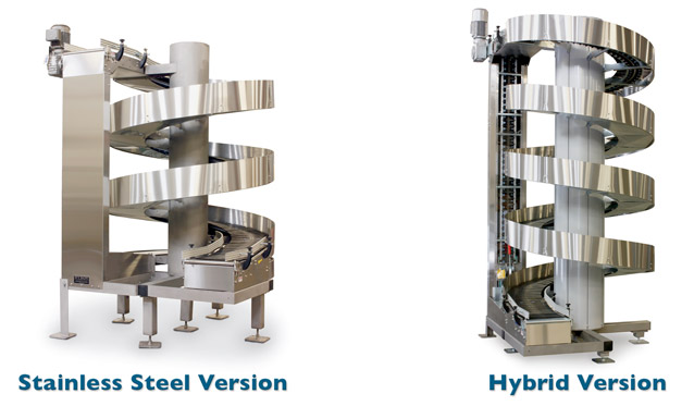 Ryson stainless steel spirals suitable for wet environments