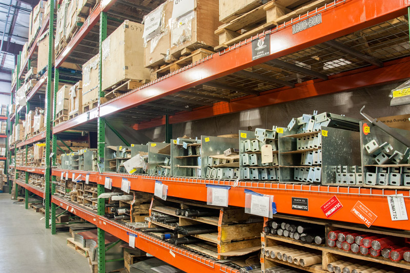 Ryson Backs its products with a fully stocked parts inventory