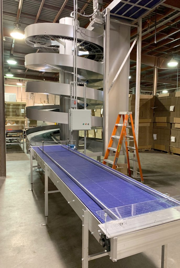 Ryson Spiral Conveyors are Gentile enough for Bakery Products