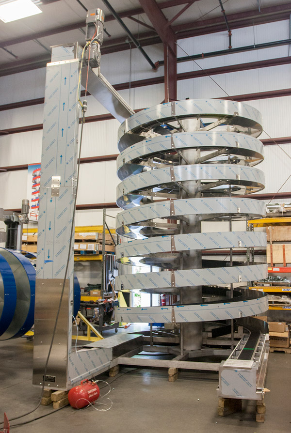 All Stainless Mass Flow Spiral For Canning plant