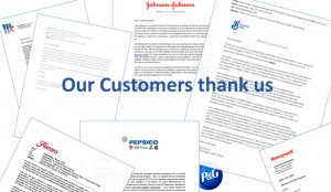 Thank you letters for our commitment to customer support.