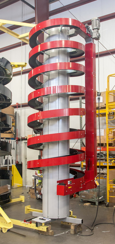 Ryson Narrow Trak Spiral is Ideal for Conveying Small Packages.
