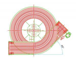 Custom Spiral Configuration Layout